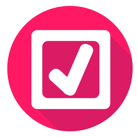 right choice: check mark or accept icon of set material design style