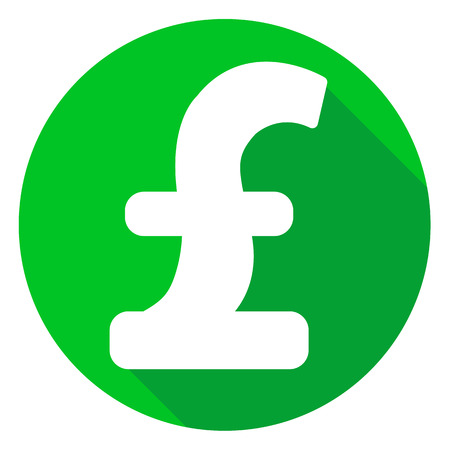 pound or money icon of set material design style