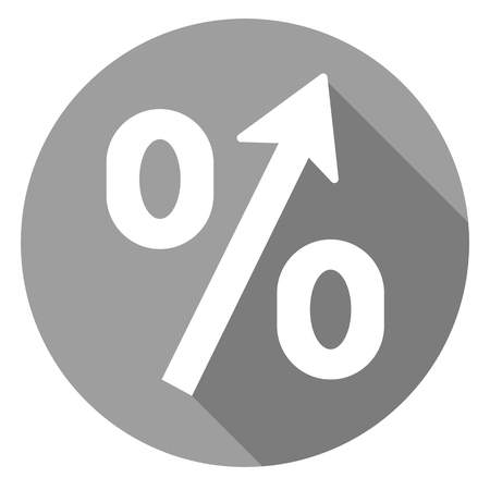 percent, increase icon of set material design style, vector of collection business Illustration