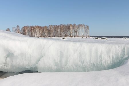 thawing: Thawing of ice on the river in the spring