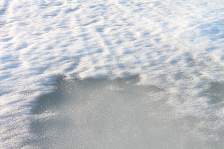 thawing: Natural background from thawing snow on the river in the spring