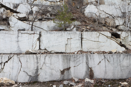 basic material: Wall of a marble career