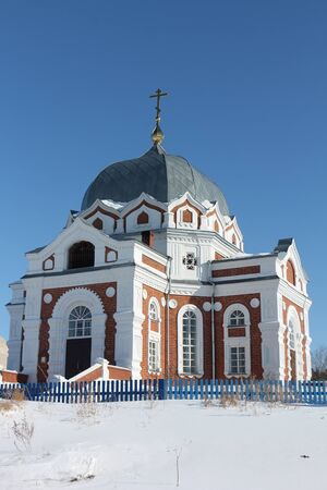 eclecticism: Church of the Intercession of the Most Holy Mother of God in Zavyalovo, Novosibirsk region, Russia, founded in 1897