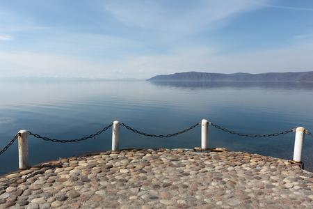 Sighting place on Lake Baikal, Listvyanka settlement, Russia