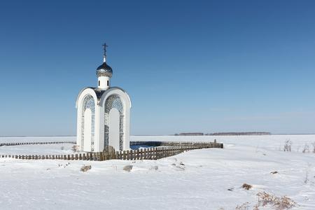 Chapel of Vera, Nadezhda, Lyubov and mother of their Sofia, Novosibirsk Region, Russia Stock Photo