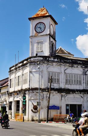 chino portugese clock phuket thailand photo