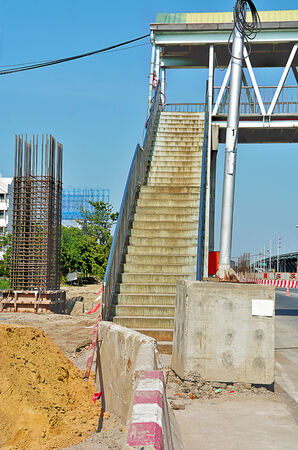 disorganized: The construction of the shield looks disorganized way up across the bridge . Stock Photo