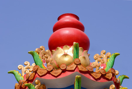The top of the red gourd Furnaces for burning paper money and gold Chinese .
