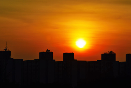 silhouette building sunrise