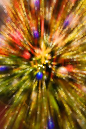 Explosion christmas bokeh background
