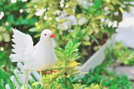 paper bird on garden