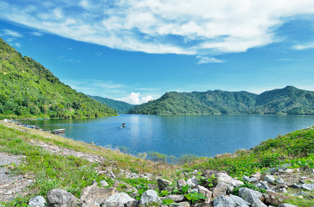 beautiful viwe lake and mountain Stock Photo