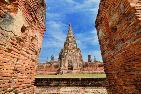 Chaiwattanaram temple in Ayutthaya Historical Park, central Thailand Stock Photo