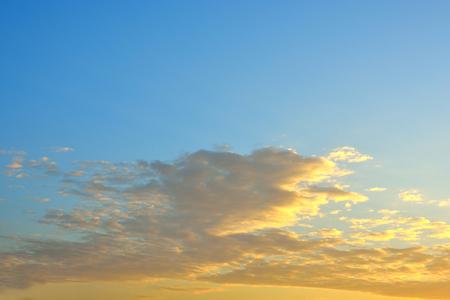 evening: litght of sunset,cloudy evening sky