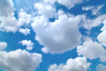 The cloud is big , move on the sky