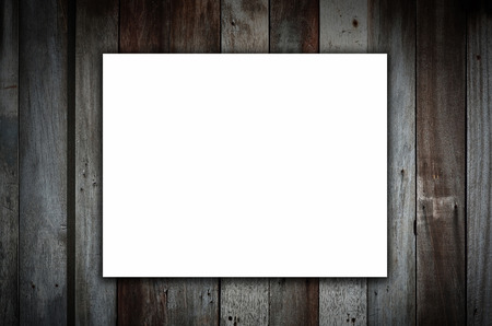 mock up poster on wooden wall