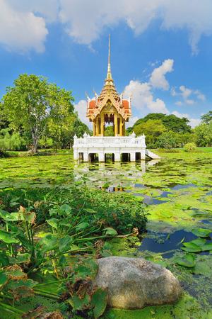 Pavilion in Royal Garden Rama IX or Suan Luang Rama 9 Public park Standard-Bild