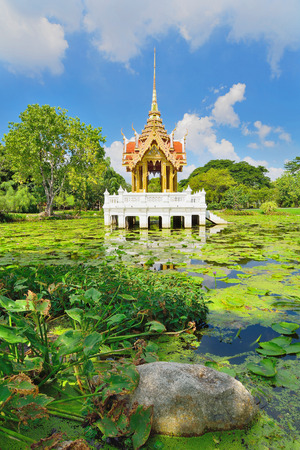 Pavilion in Royal Garden Rama IX or Suan Luang Rama 9 Public park Stock Photo