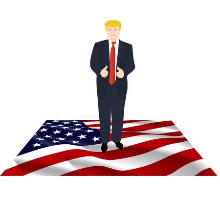 President of America on the flag Imagens - 77170187