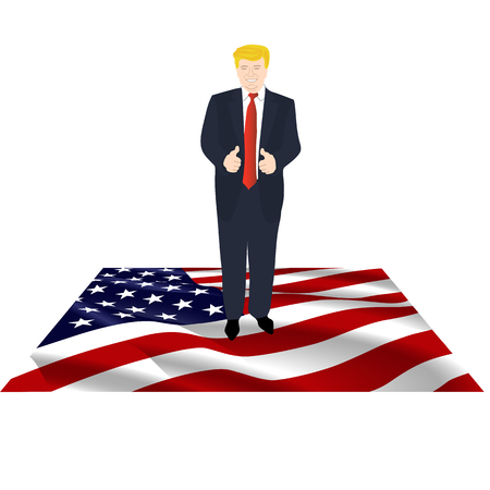 President of America on the flag