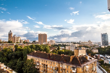 panoramic cityscape of Kiev