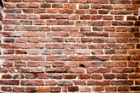 Background of brick wall texture. The red brick wall of a house