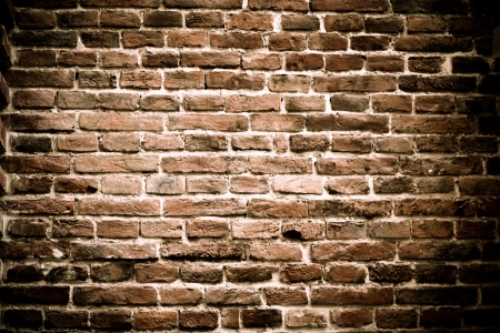Background of brick wall texture. The red brick wall of a house Stock Photo - 20452792