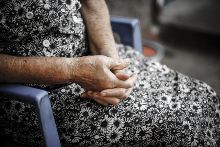 Hands of the old woman  Senior
