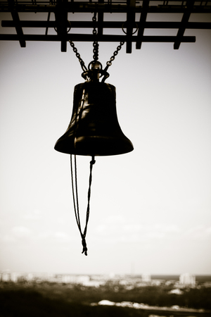 Memory Church Bell of Memorial to the Victims of Holodomor in Kiev, Ukraine. Stock Photo