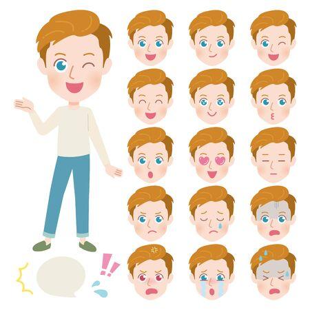 Papa-Gesichts-Set 2 Vektorgrafik