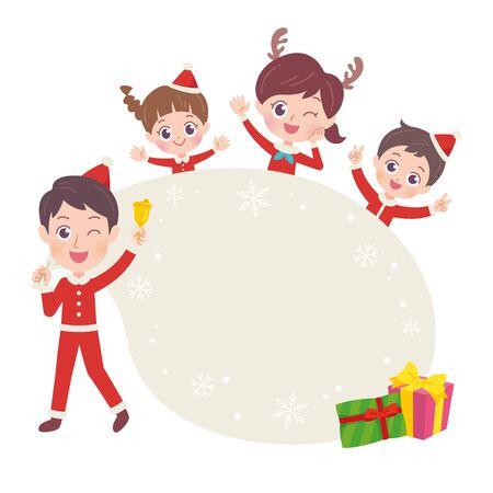 Family Christmas Illustration