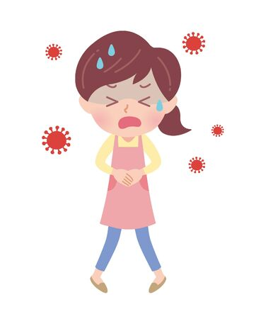 It is an illustration of a virus and a nursery teacher. It's vector art, so it's easy to edit.