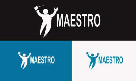 simple minimalist clean professional logo maestro