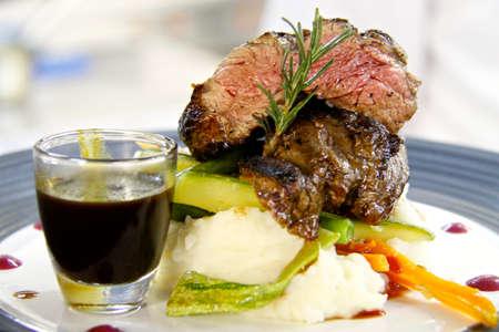 mash: Steak and Mash Stock Photo