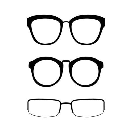 eyewear fashion: set of glasses vector