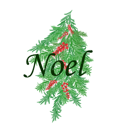 Merry Christmas to Everyone, Background With Typography and Elements