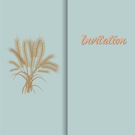 Wheat harvest season symbol and idea  イラスト・ベクター素材