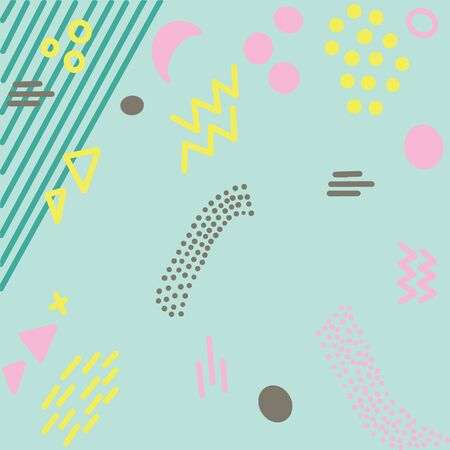 Illustration of pop art retro style background with summer pink turquoise colours.