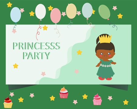 Landing page with princess and note princess party. Lol Dolls backdrop. Kids birthday party.