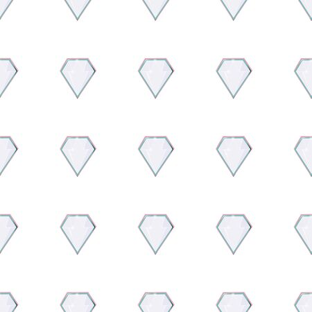 Diamond gem shape facet seamless pattern. Luxury jewels geometric precious objects. For cover, banner, background, card banner, poster luxury design. Vectores