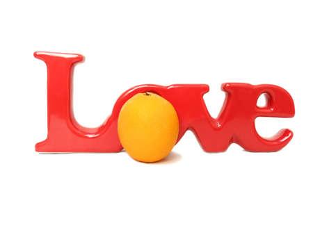orange,with love Stock Photo - 16835619