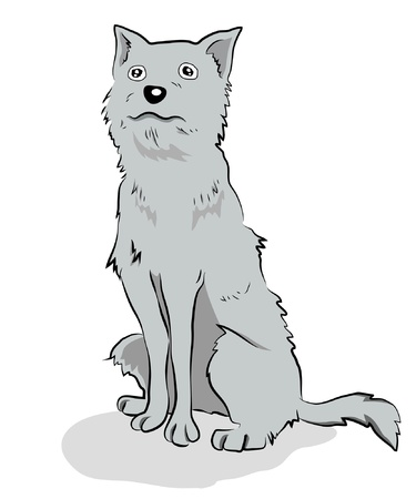 cute cartoon dog: Illustration of Cute cartoon dog