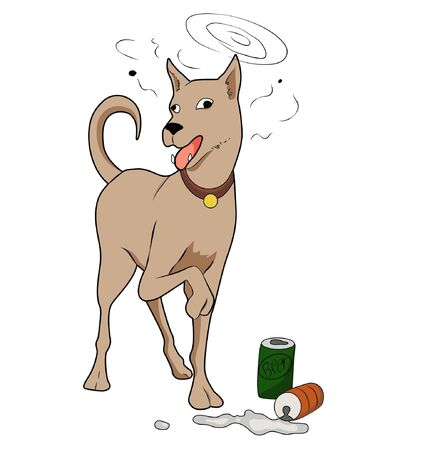 cute cartoon dog: Illustration of Cute cartoon dog ,Isolated on white