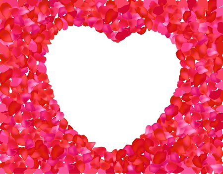Valentine rose heart. Vector illustration  Stock Vector - 17437808