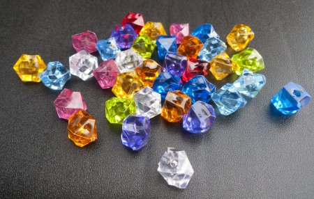 crystal on black background that are very colorful