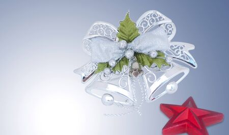 Christmas silvery bells and star  photo