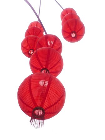 chinese lantern: Red chinese lanterns isolated on a white background.