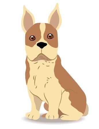 Cute dog of cartoon Stock Vector - 17693395