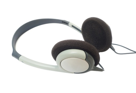 Headphones on white background.