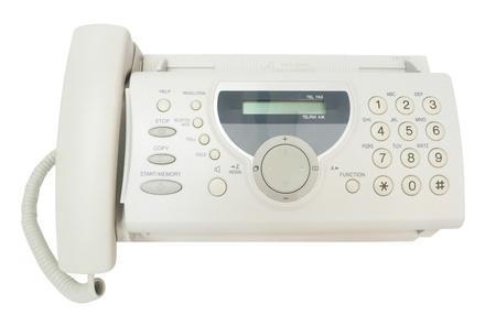 Fax isoliert auf weiß.
